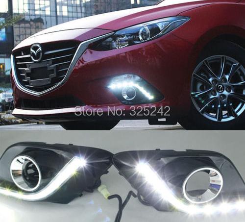 Excellent Quality Ultra-bright Led Daytime Running Light For Mazda Axela Mazda3 2013-up 3rd generation Mazda 3 DRL led light