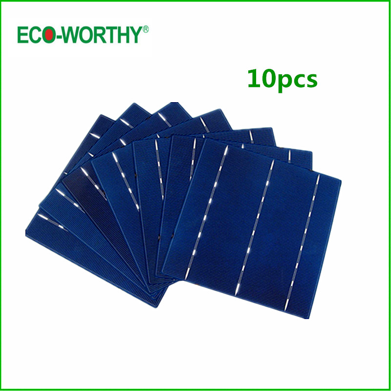 ECO 10pcs Whole 6x6 Poly Solar Cells Factory Short Tabbed 4.3W 156X156mm Polycrystalline Silicon Solar Cell for 5V Solar Panel(China (Mainland))