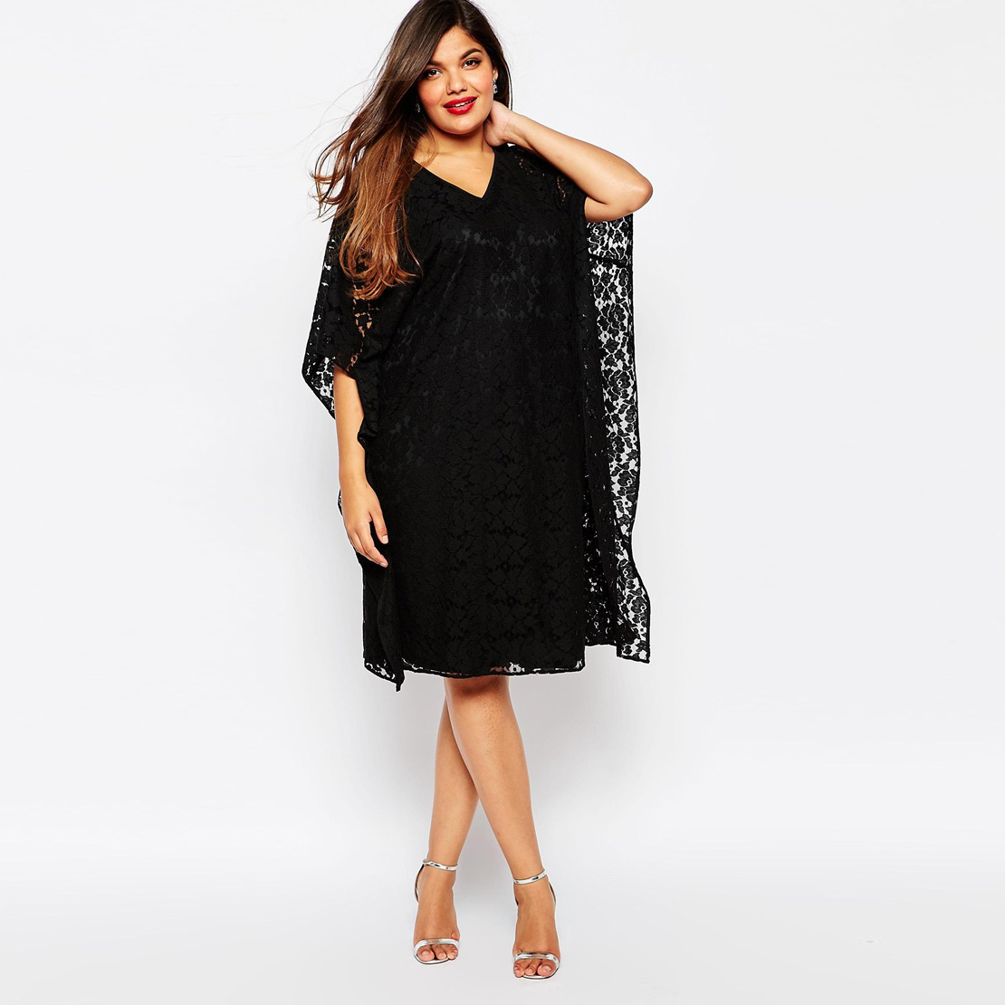 Black Lace Dress 2015 Autumn Summer Style Hot New Fashion Women Casual Vestidos V-neck Female Dresses Plus Size 5xl 4xl DressОдежда и ак�е��уары<br><br><br>Aliexpress