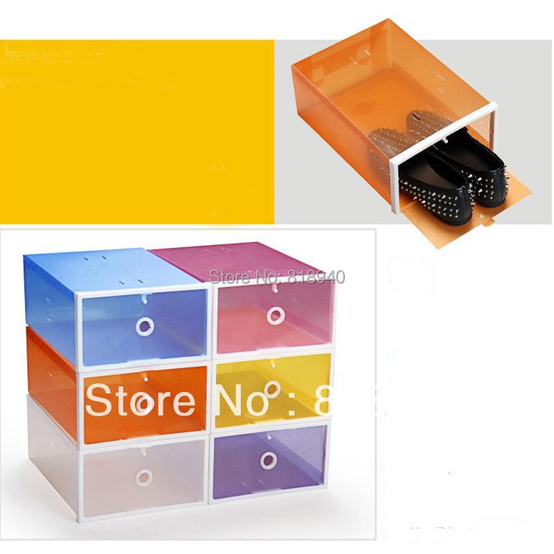 Women/Men Shoe Storage Box Container Plastic Transparent Clear Organiser Holder Unisex(China (Mainland))