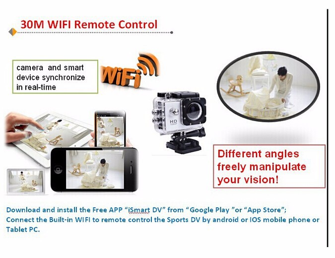 SJCAM WiFi Version SJ4000 WiFi 1080 P Full HD GoPro Estilo De La Camara