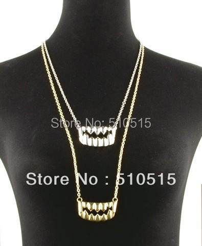 The Vampire Diaries Monster Tusk Fangs Teeth Necklace