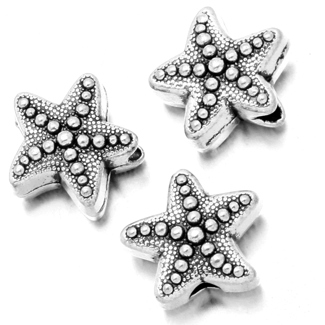Wholesale 150pcs/lot Starfish Beads Antique Silver Zinc Alloy Small Hole Beads 11*10*6mm 113800(China (Mainland))