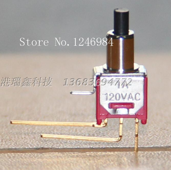 [SA]TS-22B single tripod scoliosis gilded M5.08 small toggle switch reset button normally open normally closed Taiwan SH--50pcs/<br><br>Aliexpress