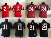 All stitched Youth Atlanta Falcons Kids children 2 Matt Ryan 11 Julio Jones 21 Deion Sanders 24 Devonta Freeman(China (Mainland))