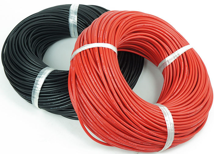 low shipping fee 1m 1 meter Soft anti high temperature silica gel line 12awg wiring silicone cable black/red