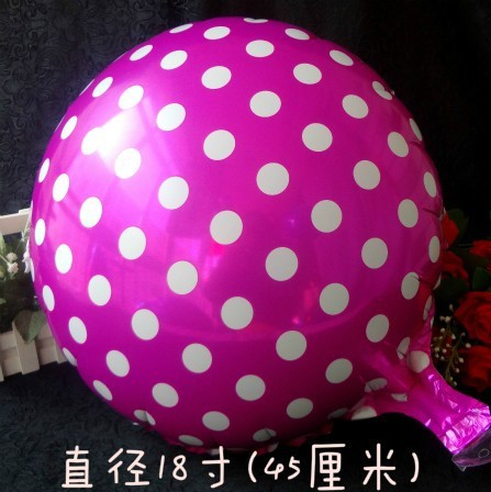 New arrive !!! 50pcs/lots 18 inch round Rose dot balloons Cartoon balloon party balloons promotional discounts wholesale Brazil(China (Mainland))