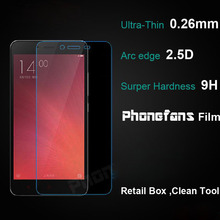 2.5D 0.3mm 9H Premium Tempered Glass for Xiaomi Note 3 / Redmi Note 2 / Mi4c / Mi4 Multi Phone Screen Protector Film Retail Box