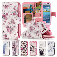 3D Relief Flower Flip Case For Samsung Galaxy S3 Case Leather Wallet Silicone Phone Case Samsung Galaxy S3 Cover i9300 Neo Duos(China (Mainland))