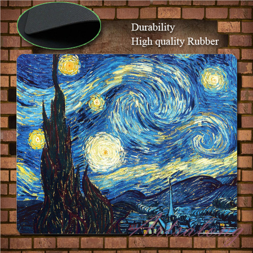 Гаджет  Abstract Painting The Starry Night HD Poster Wallpaper Poster Custom Mousepad Rubber 3d Gaming Mouse Pad Mat Free Shipping None Компьютер & сеть