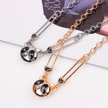 Fashion Panda With Rhinestone Necklace Panda Sweater Chain fashion lovers necklace Lovely panda Necklace wholesale sales(China (Mainland))