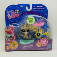 LPS collector pack cute toys Pet shop animal Lovely cat and fish #1953 #1954 action figure littlest doll