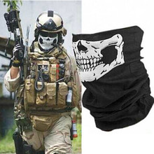 Hot sales Skull Bandana Bike Motorcycle Helmet Neck Face Mask Paintball Ski Sport Headband free shipping 100 pcs/lot(China (Mainland))