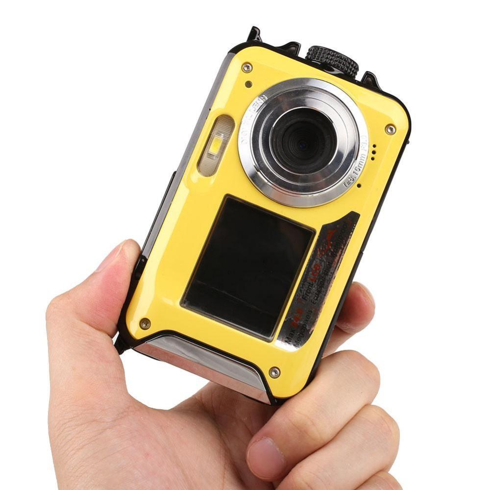 Original High Quality 1080P Double Screen 2.7″/1.8″ Waterproof Digital Camera Video Cam +US plug Adapter Professional