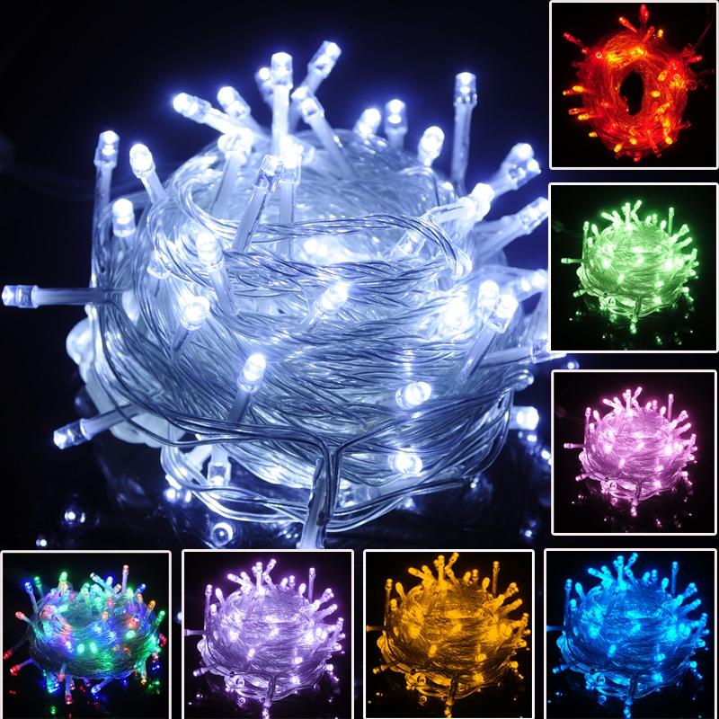 New Waterproof Christmas Lights10M/20M/50M/100M LED String Lights EU Plug AC 220V Led Fairy ...