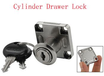 Cabinet Drawer Security Cylinder Locking Lock w Two Keys 3pcs