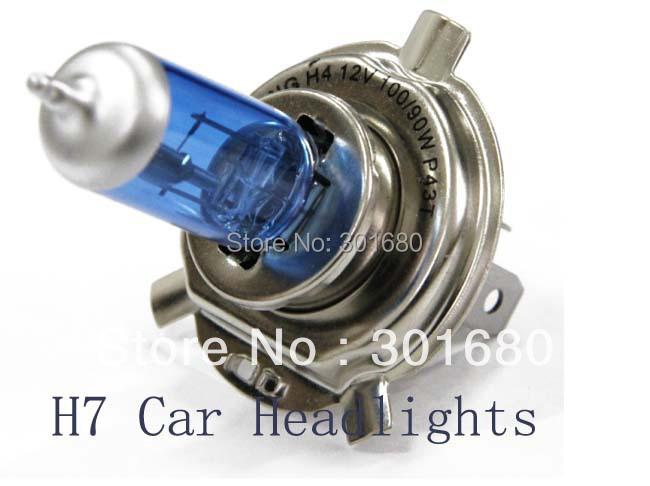 H7 Super Bright White Fog Halogen Bulb 55W lbue glass headlamp Car Head Lamp Light - D&H International Co., Ltd. store