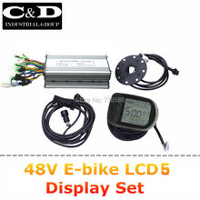 Free Shipping 48V500W Controller LCD5 display PAS Set for E-bike and E-bike conversion kit 5 levels of Pedal Assist System(China (Mainland))