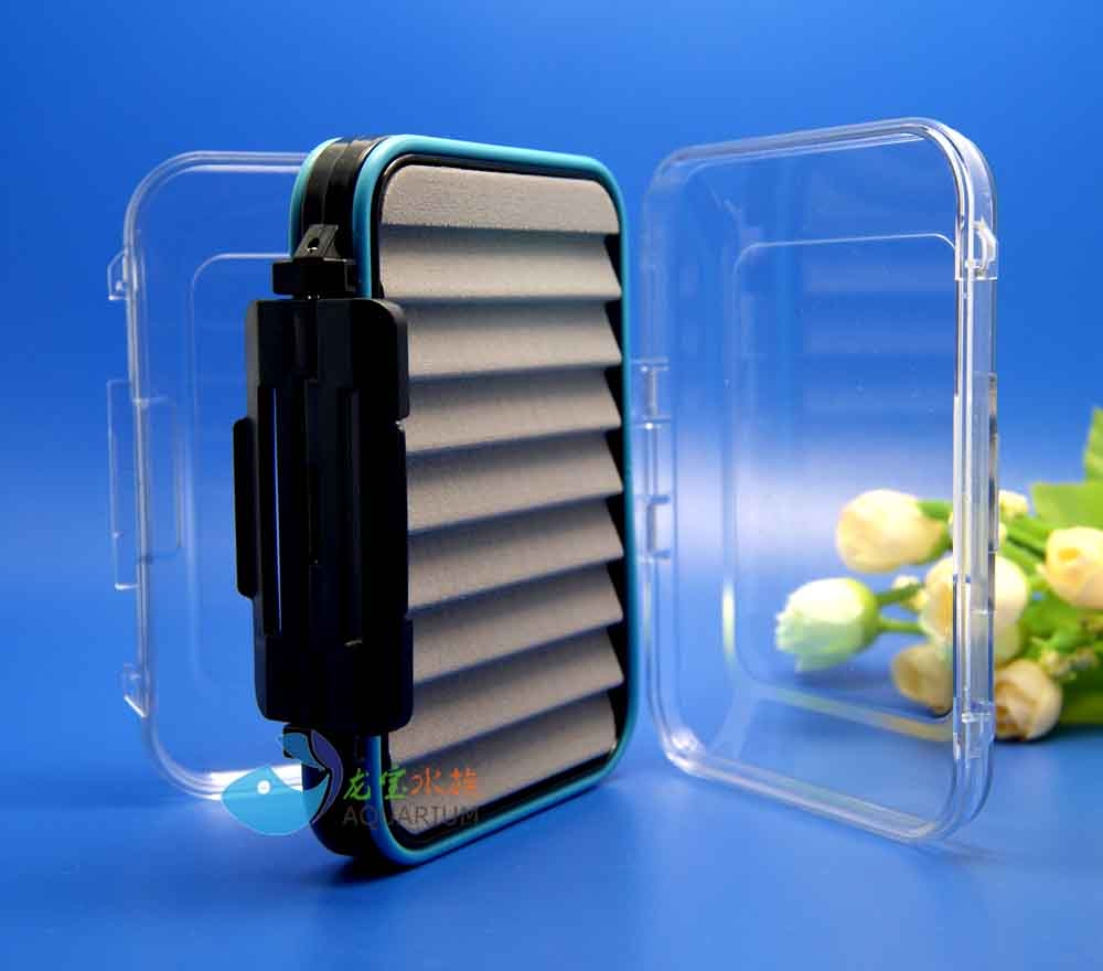 Slotted Foam Waterproof Fly Box For Fly Fishing Flies Double Side Medium Clear FB16C(China (Mainland))