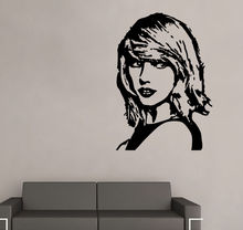 Taylor Swift Wall Sticker Art Celebrity Famous Boys Girls Room Decor free shipping(China (Mainland))