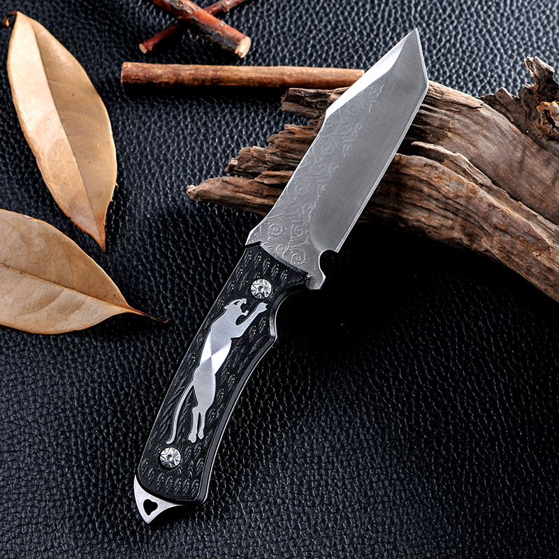 Buy New Style Outdoor Fixed Blade Knife Survival Tactical Hunting Camping Knife D2 Navajas Zakmes Cold Steel Facas Taticas Knife cheap