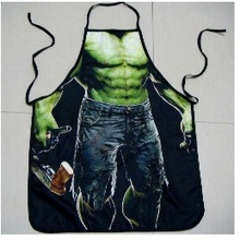 2pcs/set Heroes Hulk Amrican Batman Accessory Cooking Apron Funny Novelty BBQ Party Men Sexy Rude Cheeky Kitchen Cooking Tool