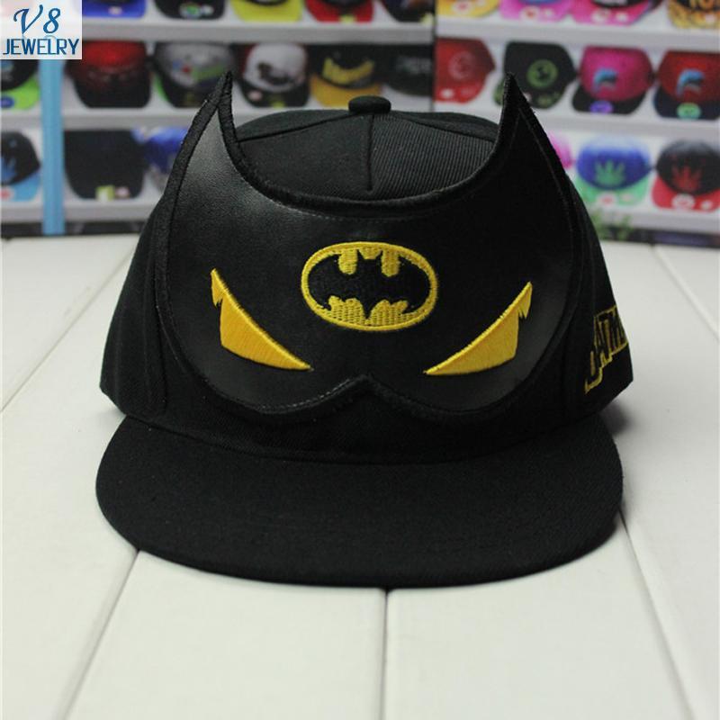 Euramerican Fashion Punk Wind Superhero Series Batman Women&Men Baseball Caps Print Lover Hats 4 Color Available Wholesale QA800(China (Mainland))