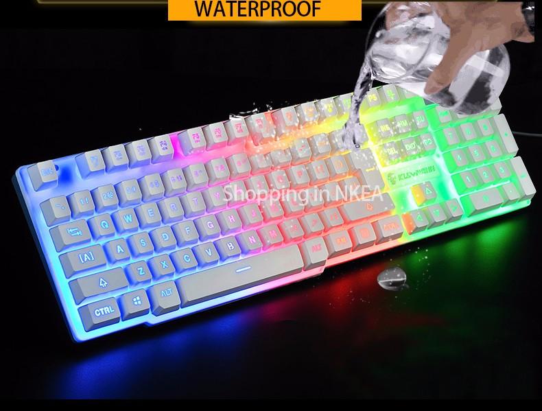 2016 Hot selling! USB Wired Computer Keyboard LED backlit Light Gaming Keyboard for Laptop Notebook Desktop for LOL DOTA2(China (Mainland))
