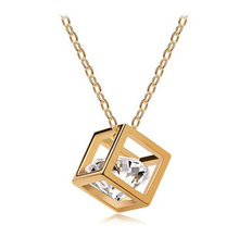 Fashion Austria Crystal Eight heartseight arrows zircon square Necklace wholesale