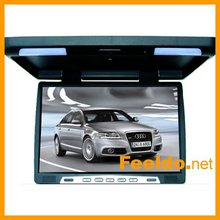 15.6 inch high definition car flip down LCD monitor -with 2 lights #FD-1292(China (Mainland))