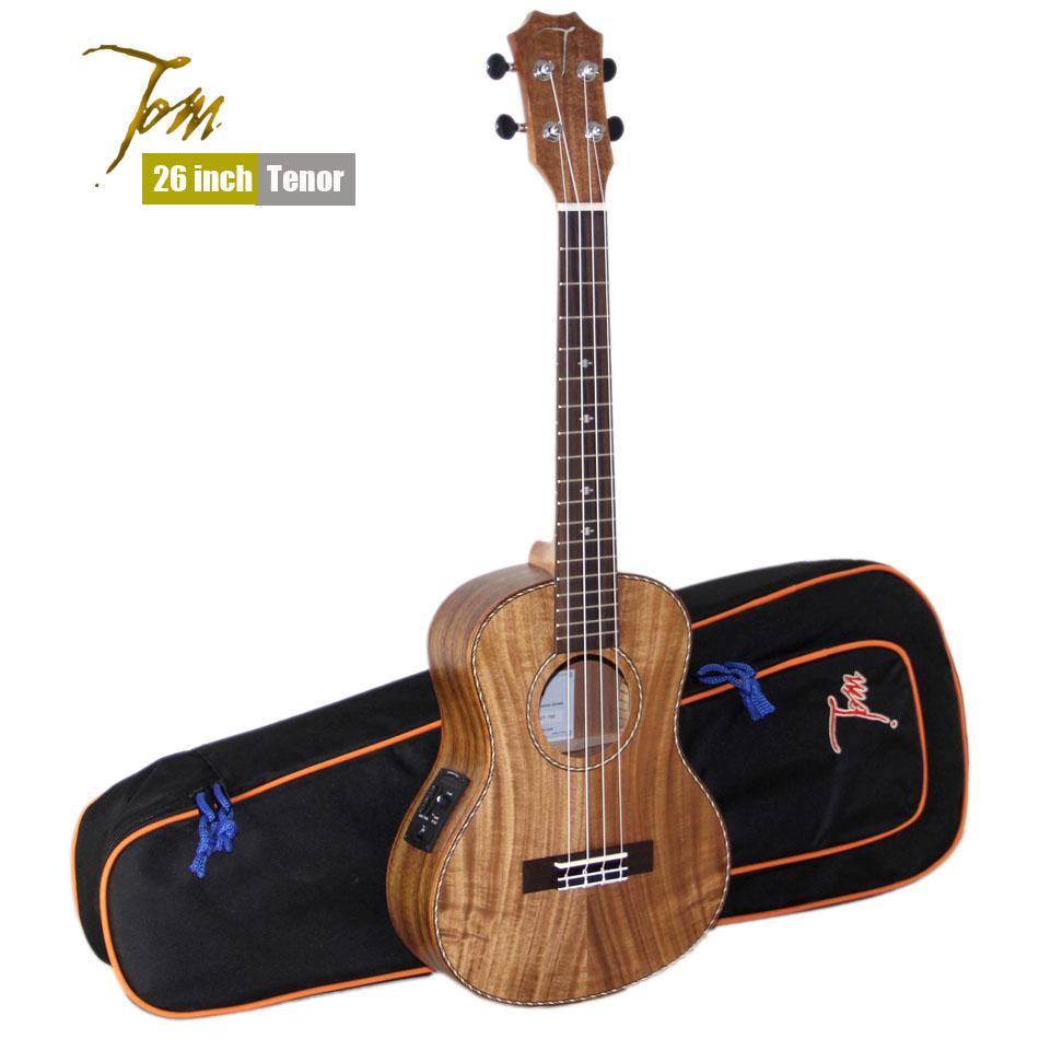 """TOM Guitar ukulele manufactory Tenor TUT-700 import musical instruments with EQ Ukulele With Aquila Strings 23""""/26""""(China (Mainland))"""