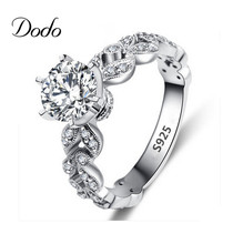 Antique anillo white gold plated Roman Wedding engagement rings CZ diamond jewelry ring for women zircon bijoux bague femme 097(China (Mainland))
