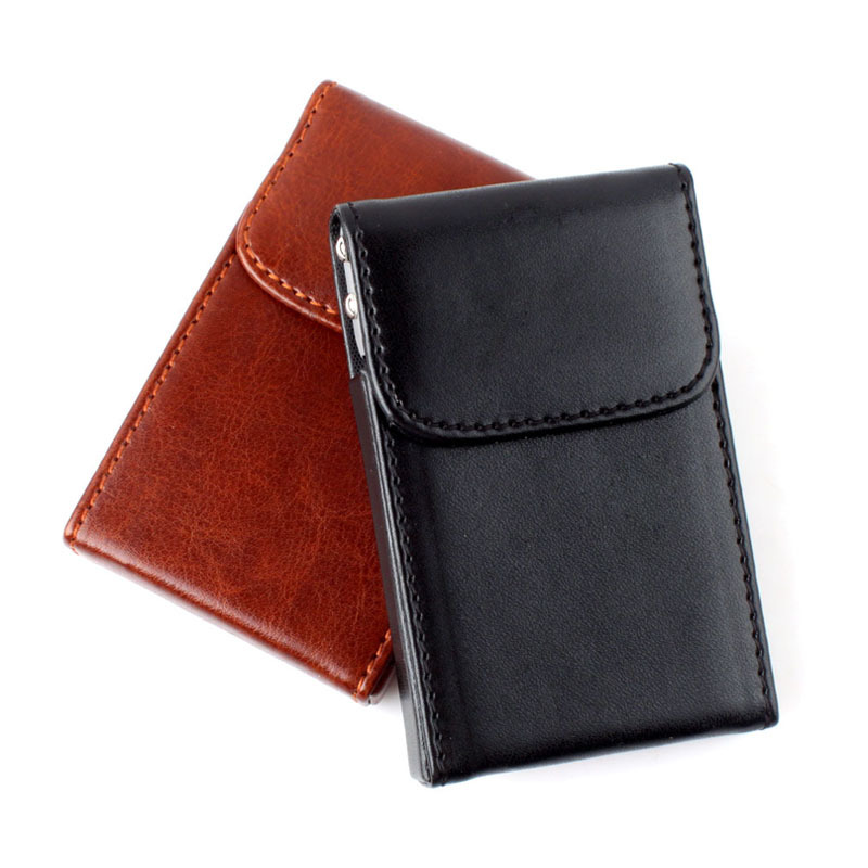 New Fashion Soft Leather Business Name ID Credit Card Wallet Case Bag Holder #55313(China (Mainland))