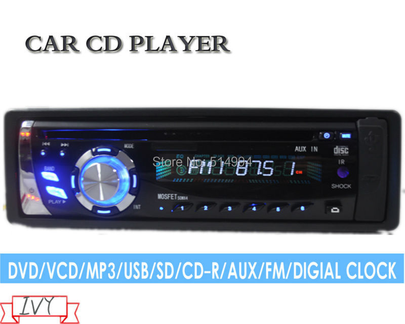 Фотография 2014 new 07,12V car cd dvd player,car audio,car mp3 player, car radio cd mp3 usb,1 din audio usb player for car
