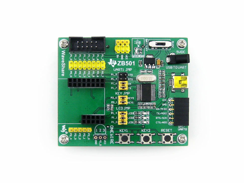 ZigBee Module ZB501 Motherboard Evaluation Development Board with Various Interface Easy for CC2530 Expansion Free Shipping(China (Mainland))