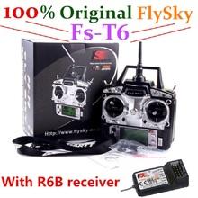 100% оригинал fly sky FlySky fs-t6 с R6B Приемник Передатчик RC 6CH дистанционного управления беспилотный вертолет(China (Mainland))