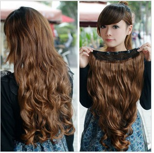 2015 Special Offer Time-limited 10 Pieces/lot Clip-in Others Remy Hair Thick Wavy Extensions Five Chip Micro Film Clip Long Hair(China (Mainland))