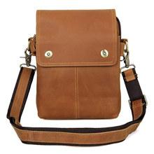 Italian Imported Crazy Horse Genuine Leather Messenger Shoulder Bag Men Vintage Multi-functional School Bag for Teenager M003(China (Mainland))