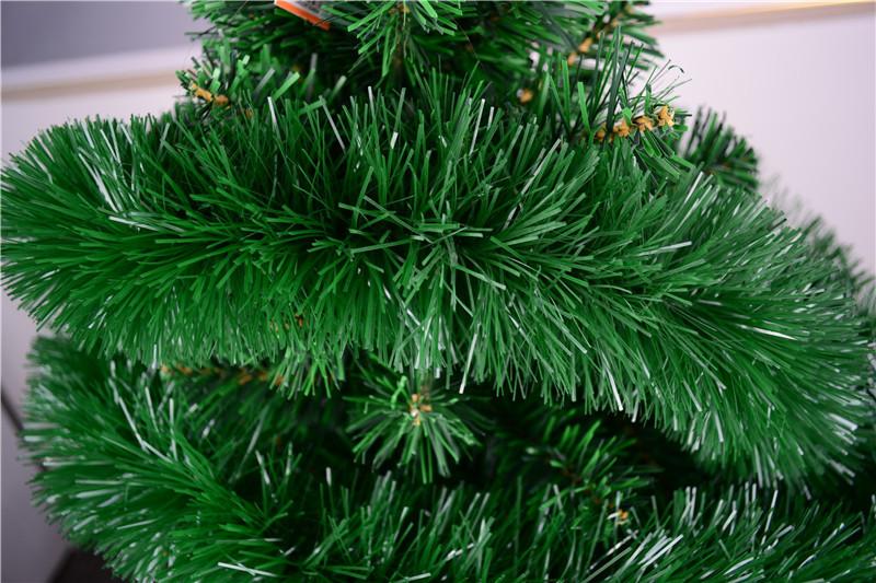 Top green tinsel garland metallic lime