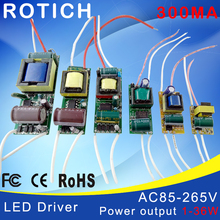 1-3W,4-7W,8-12W,15-18W,20-24W,25-36W LED driver power supply built-in constant current Lighting 85-265V Output 300mA Transformer(China (Mainland))