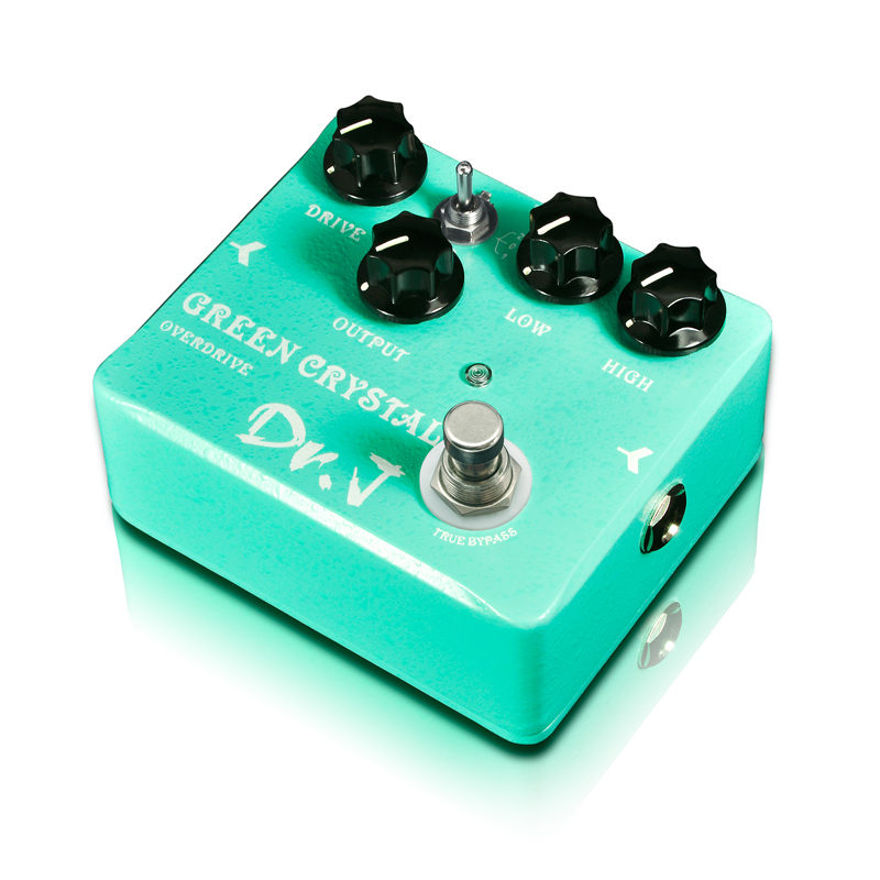 Dr. J D50 Green Crystal Overdrive Electric Guitar Effect Pedal Hand Made Overdrive efeito True Bypass Free Shipping(China (Mainland))