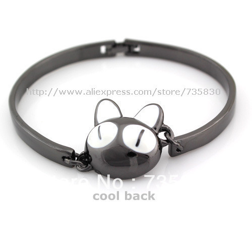 Free shipping Hot Sale Bela fashion jewelry Perky Air Cat Kitty bracelet Cute Cat Summer New multicolor factory direct