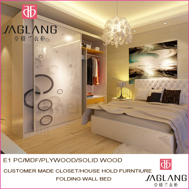 custom made solid wood sliding door closet hotel furniture high gloss