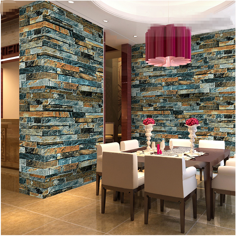 Buy modern luxury stone brick 3d for 3d wallpaper for dining room