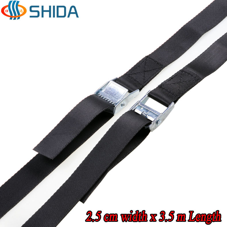 2014 New 2pcs 1 inch (2.5cm) *3.5meters Metal cargo lashing strap ratchet tie down cam buckle winch strap Free Shipping(China (Mainland))