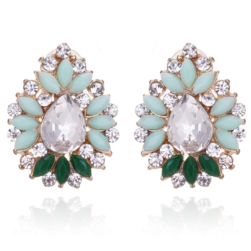 Hot Crystal Stud Earring Fashion Small Rhinestone Women Fine Jewelry Boucles Pendientes BE185 - Q-Star Store (min order 1pc store)
