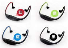 Sport MP3 Player Headset Wireless Earphone Digital Mp3 players with FM/TF Radio Card Micro SD TF Card MP3-10(China (Mainland))