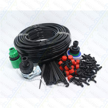 Free ships (25m)DIY Micro Drip Irrigation System Plant Automatic Self Watering Garden Hose Kits with Connector(China (Mainland))