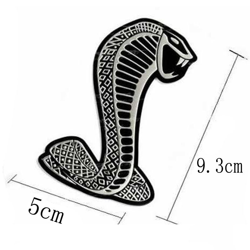 DSYCAR Metal Car Sticker Front Hood Grill Badge Grille turning logo Snake Emblem Logo stickers Auto accessories For Ford Mustang(China (Mainland))