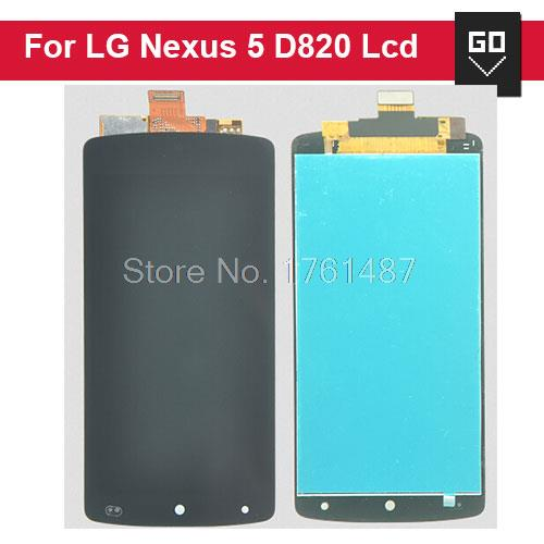Original LCD Display Touch Digitizer Screen Assembly Replacement For LG Nexus 5 D820 D821 Black color